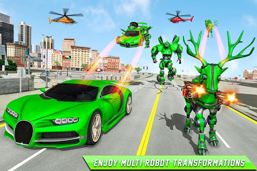 Deer Robot Car Game u2013 Robot Transforming Games apktram screenshots 1