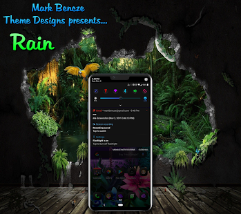 Rain Theme for LG G8, V40, V50 UX8 Android 9 for PC-Windows 7,8,10 and Mac apk screenshot 4