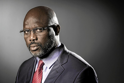 George Weah. File photo.