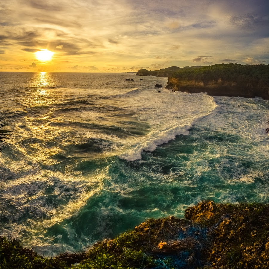 by Joy Advent - Landscapes Waterscapes ( slowspeed, reflection, pacitan, waterscape, sunset, indonesia, rembang, sunrise, landscape, photography,  )