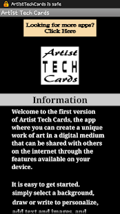 Artist Tech Cards- screenshot thumbnail