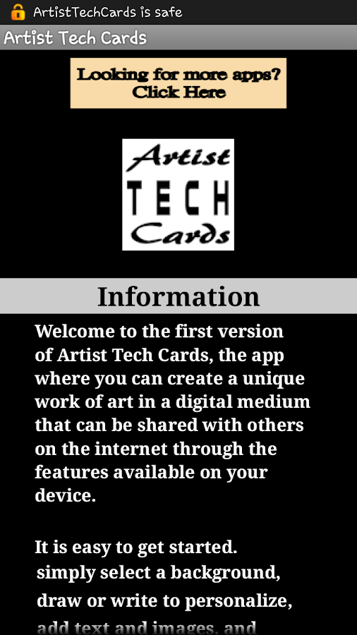 Artist Tech Cards- screenshot