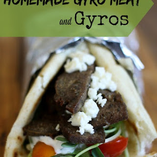 Homemade Gyro Meat and Gyros Recipe