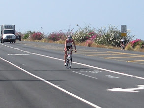 Photo: Three time world champ Chrissie Wellington out training on the Queen K.