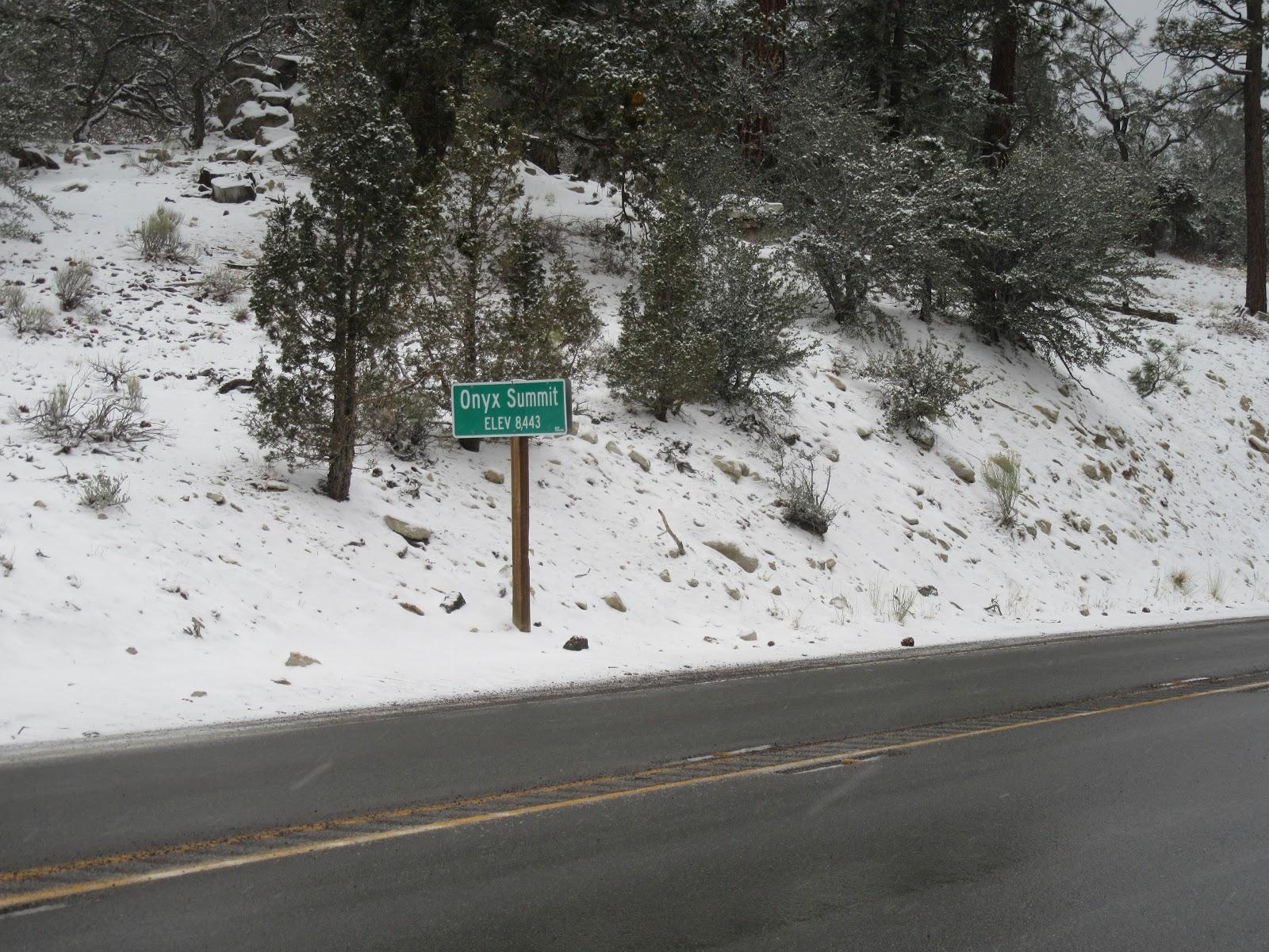 Onyx Summit bike ride - summit sign