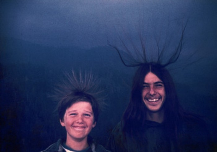 Michael McQuilken and his brother, Sean, climbed California's Moro Rock in 1975.