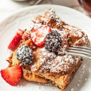 Easiest Overnight French Toast Casserole.
