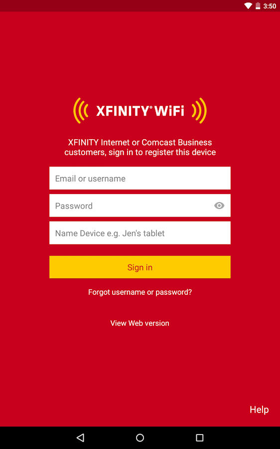 XFINITY WiFi Hotspots- screenshot