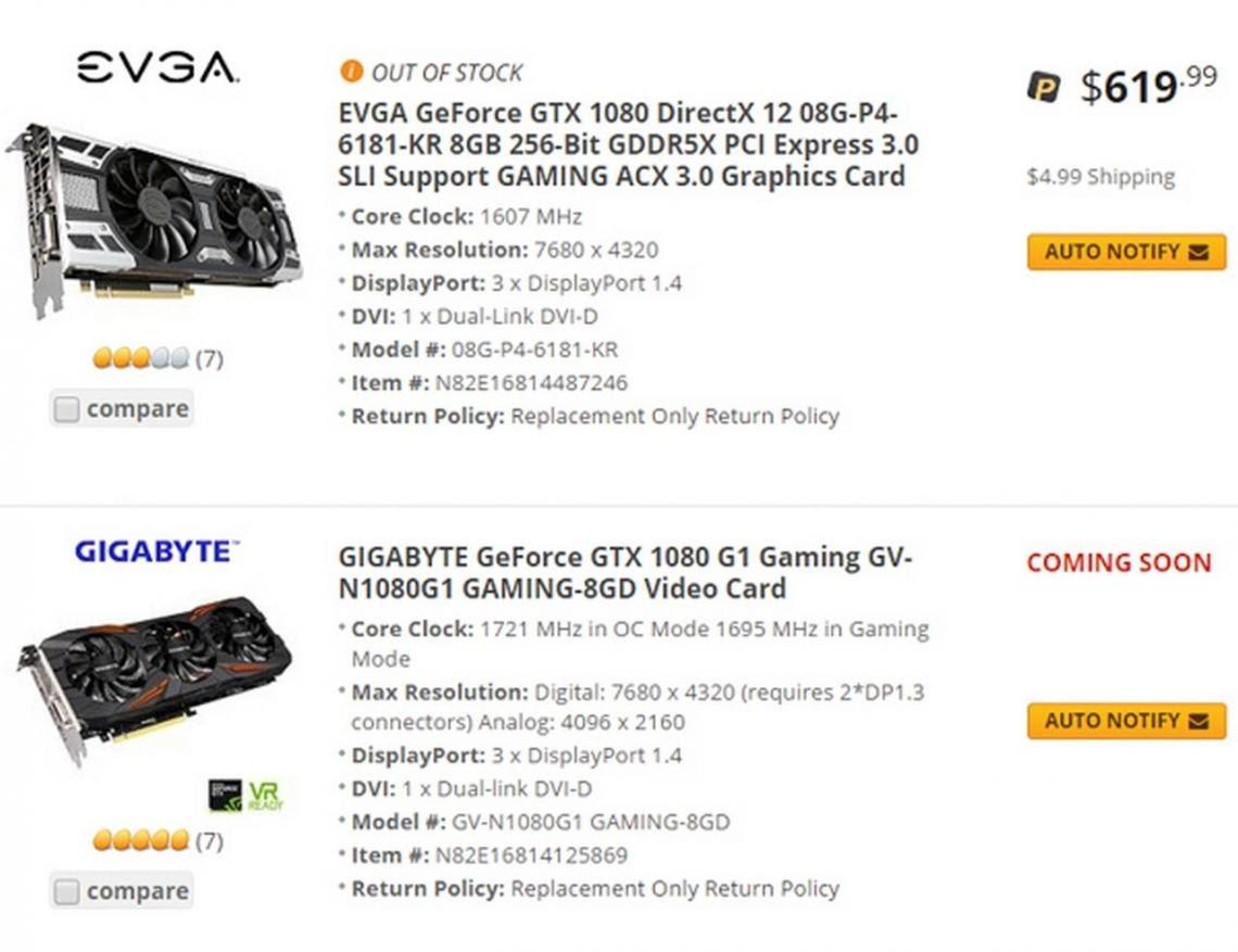 GeForce GTX 1080 đang mang lại nhiều thành công cho Nvidia