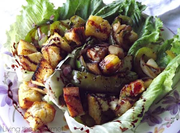Grilled Veggie And Pineapple Salad Recipe