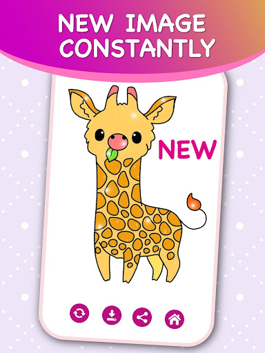 Kids Color by Numbers Book with Animated Effects android2mod screenshots 4
