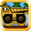 Kids Trucks: Puzzles - Golden icon