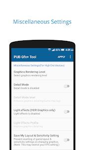PUB Gfx+ Tool🔧:#1 GFX Tool(with advance settings) 0.18.1 Patched Apk [Unlocked] 3