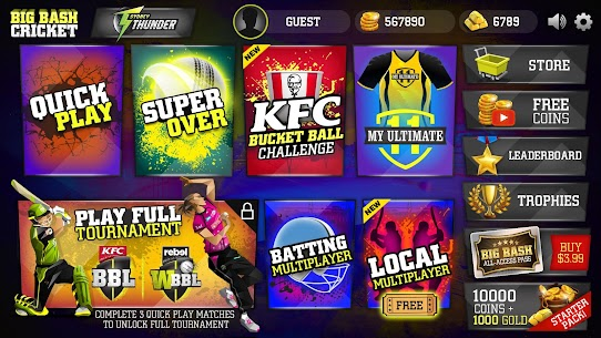 Big Bash Cricket Mod Apk v2.0 (Unlimited Money, Coins) 2