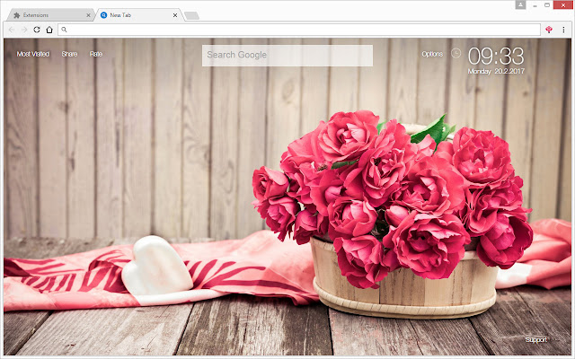 roses wallpaper hd new tab rose themes chrome web store
