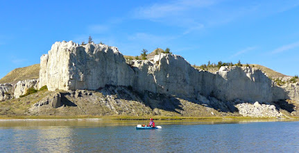 Photo: Cliffs across from our campsite at Eagle Creek