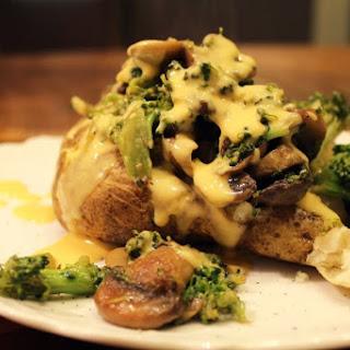 Mushroom Garlic Broccoli Stuffed Potatoes