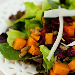 Fall Greens with Roasted Butternut Squash and Spicy Pepitas Recipe
