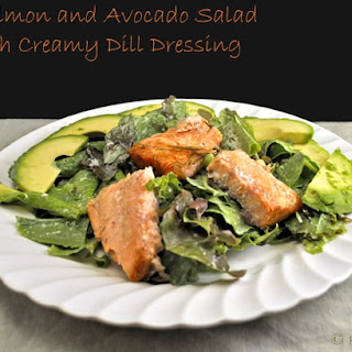 Salmon and Avocado Salad with Creamy Dill Dressing Recipe
