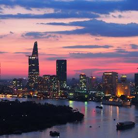 Color of Evening... by Beh Heng Long - Landscapes Sunsets & Sunrises (  )