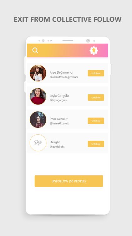 Unfollow Chief - Mass Unfollow App – (Android Applications
