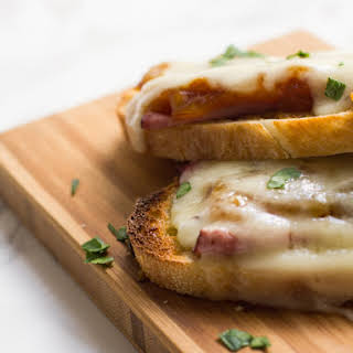 French Onion Open-Faced Sandwiches.
