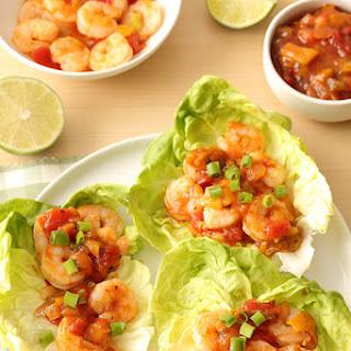 Salsa Shrimp Lettuce Wraps.