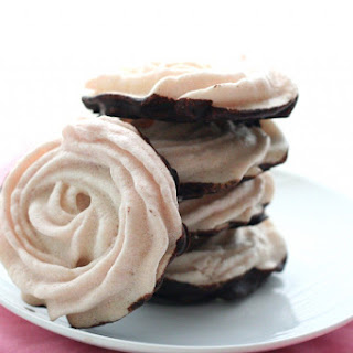Chocolate Dipped Raspberry Meringues