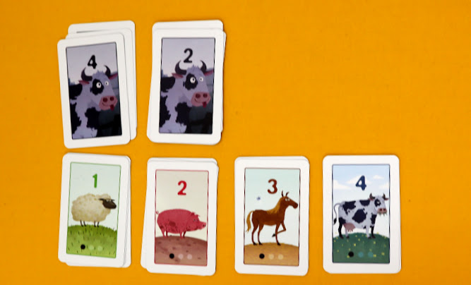 ゲーム準備2【ボードゲームレビュー】おろかな牛/愚かな牛