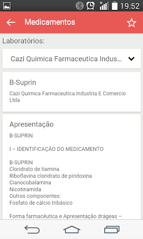 android Bulas de Medicamentos Screenshot 2