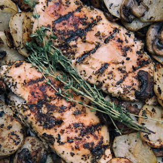 Grilled Garlic and Herb Chicken and Potatoes.