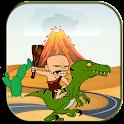 Monster Caveman Ride Dinosaur icon