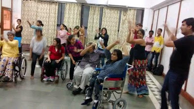 Photo: Rehearsals underway for the World Disability Day 2014 Inclusive Flash Mob.