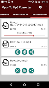 Opus To Mp3 Converter Capture d'écran
