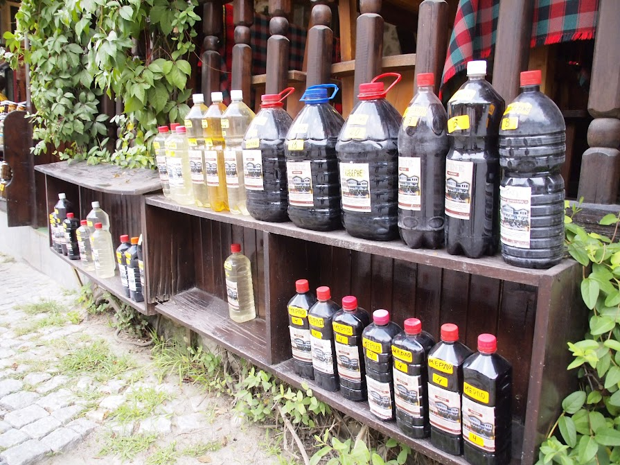 homemade wine in plastic bottles Bulgaria