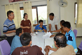 Photo: Group discussions with SMART Farmers and SRI LMB team- TOT 1 , Tron, Uttaradit