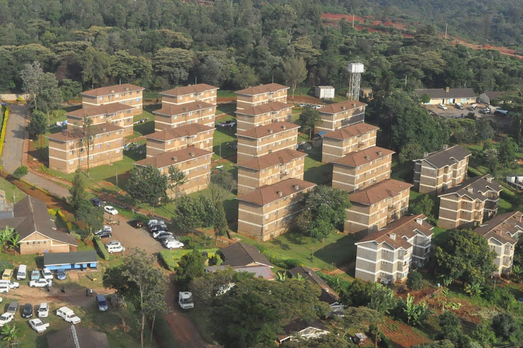 An aerial shot of Ngong road forest land that the government wants repossed.