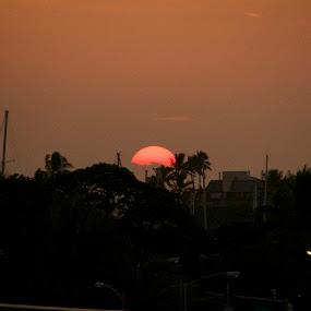 SUNSET HAWAIIAN STYLE  by Michael Guerrero - Landscapes Sunsets & Sunrises