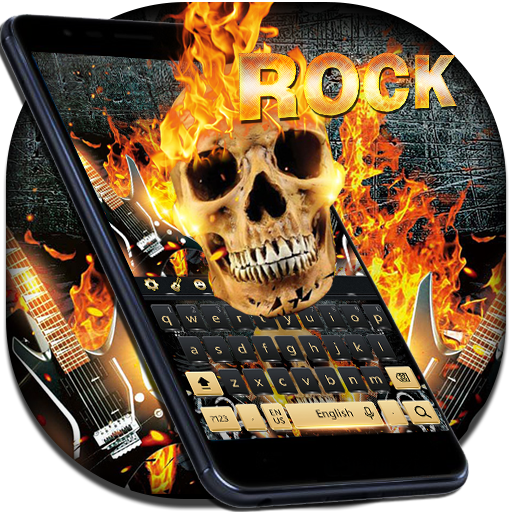 Cool rock skull Keyboard
