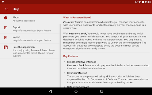 Password Book for Tablet- screenshot thumbnail