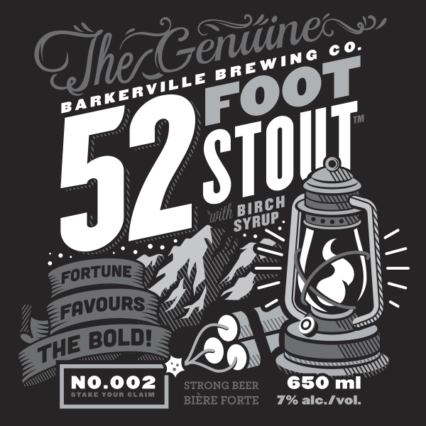 Logo of Barkerville Brewing Co. 52 Foot Stout