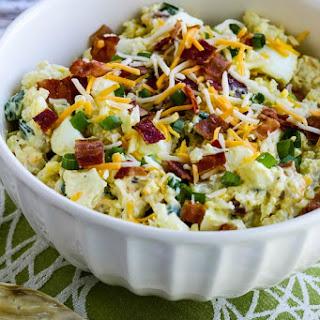 Low-Carb Loaded Cauliflower Mock Potato Salad.