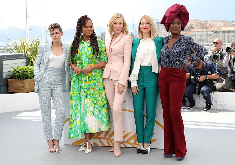 Cannes jury members (from left) Kristen Stewart, Ava DuVernay, Cate Blanchett, Léa Seydoux and Khadja Nin in May
