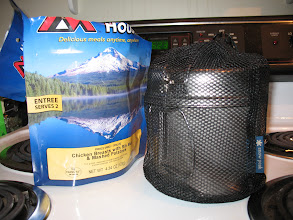 Photo: All our cookware fits in a small mesh bag.