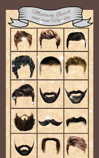 Mustache Beard And Men Hairstyle - náhled