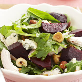 Chicken, Blue Cheese and Beet Salad.