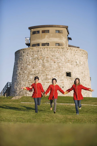 Carleton Martello Tower in Saint John, New Brunswick, dates from the War of 1812.