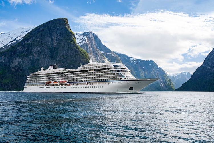 Viking Sun is nearly identical to sister ship Viking Star, shown in Norway.