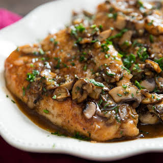 Chicken Marsala With Mushrooms and Shallots.
