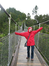 Photo: Stanka actually do not like swinging bridges :)